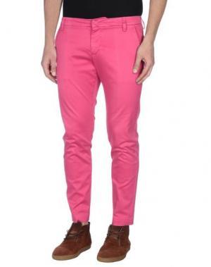 Повседневные брюки ENTRE AMIS. Цвет: фуксия
