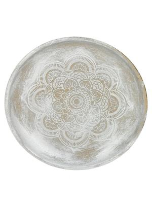 Тарелка декоративная RICH LINE Home Decor. Цвет: темно-серый