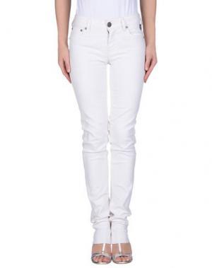 Джинсовые брюки DB9. Цвет: белый