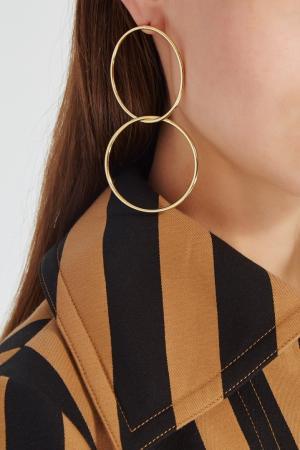Золотистые серьги Hoop Lisa Smith. Цвет: золотой