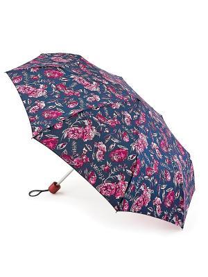 Зонт женский механика Fulton. Цвет: синий