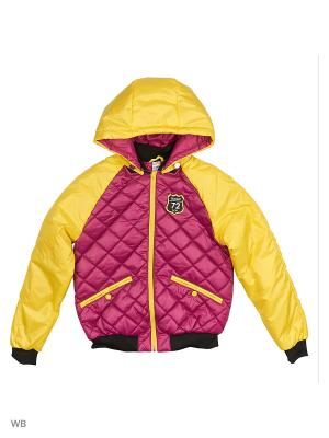 Куртка BOOM. Цвет: сиреневый, желтый