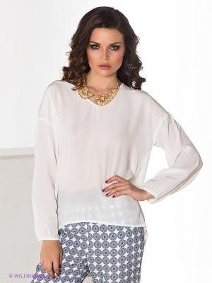 Блузка COMPAGNIA ITALIANA. Цвет: белый