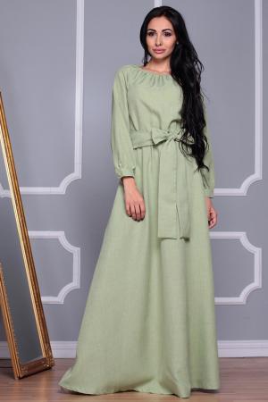 Длинное платье с широкой горловиной REBECCA TATTI. Цвет: оливковый