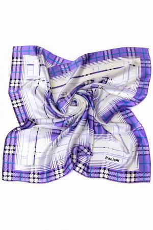 Платок Frantelli. Цвет: белый, фиолетовый