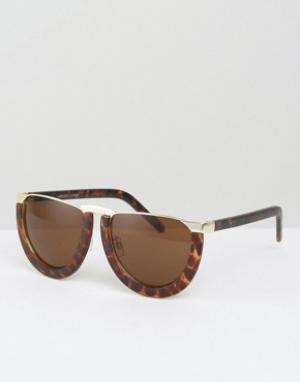 Somedays Солнцезащитные очки в полуоправе Lovin. Цвет: коричневый