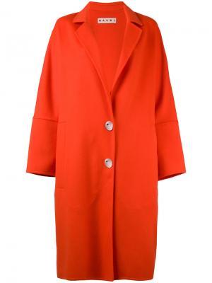 Классическое пальто Marni. Цвет: красный