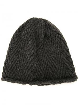 Трикотажная шапка Soe. Цвет: серый