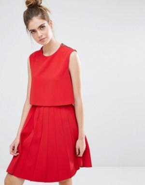 SPORTMAX CODE Платье со складками. Цвет: красный