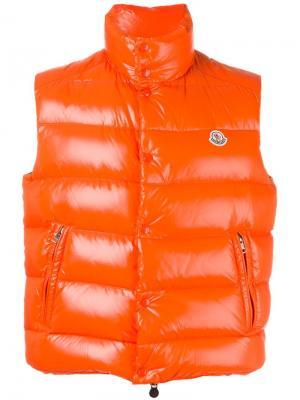 Жилетка-пуховик Tib Moncler. Цвет: жёлтый и оранжевый