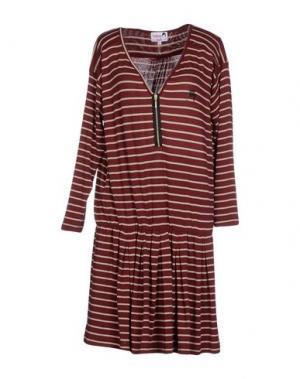 Короткое платье DOLORES PROMESAS HELL. Цвет: кирпично-красный