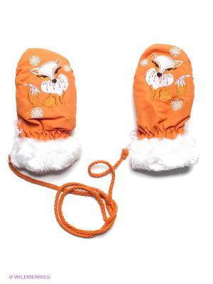 Варежки Чудо-Кроха. Цвет: оранжевый