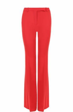 Расклешенные брюки со стрелками Alexander McQueen. Цвет: красный