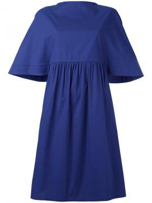 Расклешенное платье свободного кроя Gianluca Capannolo. Цвет: синий