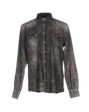 Джинсовая рубашка LIU •JO MAN. Цвет: стальной серый