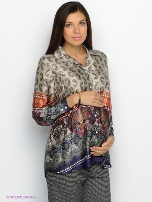 Блузка UNIOSTAR. Цвет: бежевый, молочный, красный, темно-фиолетовый