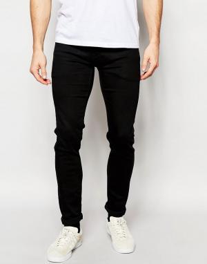 Pepe Heritage Черные суперстретчевые джинсы скинни Jeans Powerflex Finsbury. Цвет: черный