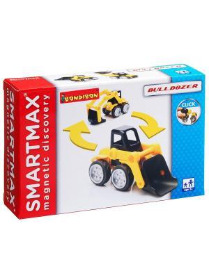 Магнитный конструктор SmartMax/ Bondibon Специальный (Special) набор: Бульдозер, арт.112.. Цвет: белый, синий, красный