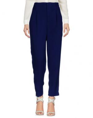 Повседневные брюки MEM.JS. Цвет: темно-синий