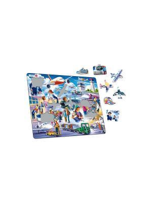 Пазл Аэропорт LARSEN AS. Цвет: синий, зеленый, голубой, оранжевый, желтый, белый