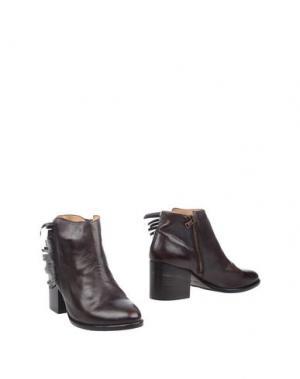 Полусапоги и высокие ботинки SEBOY'S. Цвет: темно-коричневый