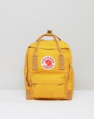 Fjallraven Маленький рюкзак горчичного цвета Kanken. Цвет: желтый