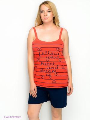 Комплект Vienetta Secret. Цвет: оранжевый, синий