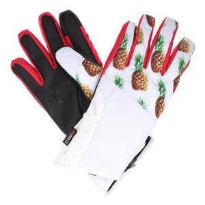 Перчатки сноубордические женские  Maya Glove Pineapple Celtek. Цвет: белый,мультиколор