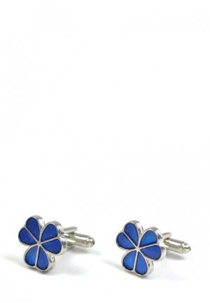Запонки Churchill accessories. Цвет: синий