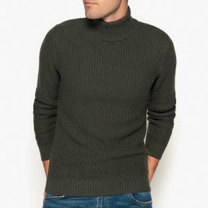 Пуловер-водолазка из плотного трикотажа La Redoute Collections. Цвет: зеленый хаки,сине-зеленый