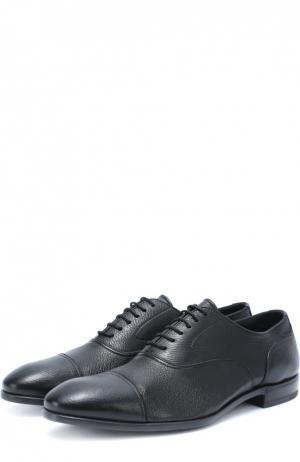 Классические кожаные оксфорды H`D`S`N Baracco. Цвет: черный