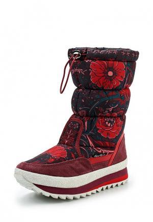 Дутики King Boots. Цвет: красный