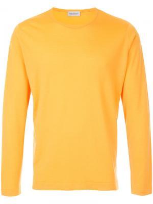 Crew-neck jumper John Smedley. Цвет: жёлтый и оранжевый