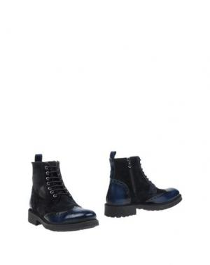 Полусапоги и высокие ботинки VIA DEI CALZAIUOLI. Цвет: темно-синий