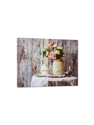 Art Холст Нежная композиция DECORETTO. Цвет: розовый, зеленый, бежевый