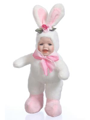 Кукла интерьерная Зайка DAVANA. Цвет: розовый, белый