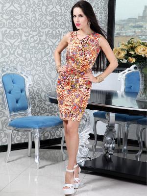 Платье Lussotico. Цвет: сиреневый, молочный, красный
