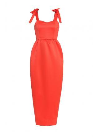 Платье из искусственного шелка 177160 Cyrille Gassiline. Цвет: оранжевый