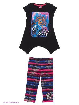 Комплект Monster High. Цвет: черный, фиолетовый
