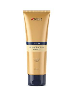 Шампунь Indola Glamorous Oil 250 мл. Цвет: золотистый