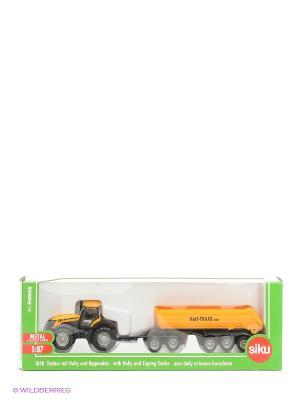 Трактор с прицепомкузовом SIKU. Цвет: желтый