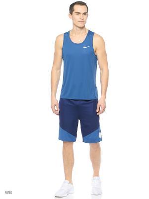 Майка M NK DRY MILER TANK Nike. Цвет: синий