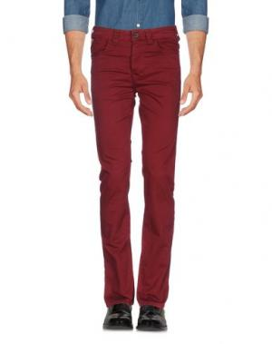 Повседневные брюки MARVILLE. Цвет: красно-коричневый