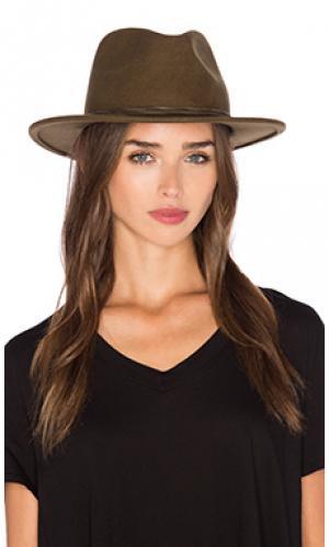 Шляпа corbet Brixton. Цвет: оливковый
