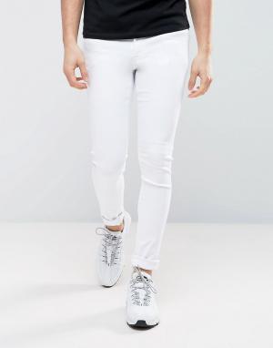 ASOS Ультразауженные белые джинсы скинни. Цвет: белый