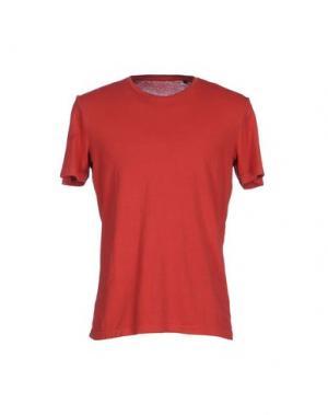 Футболка QU4TTRO. Цвет: красный