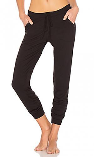 Спортивные брюки chevron cashmere blend else. Цвет: черный