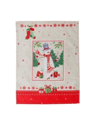 Набор полотенец,3штуки Fresca Design. Цвет: молочный, красный
