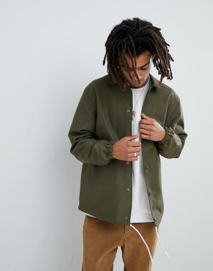 Mennace Спортивная куртка цвета хаки. Цвет: серый