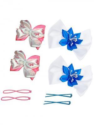 Набор аксессуаров для волос City Flash. Цвет: белый, голубой, розовый